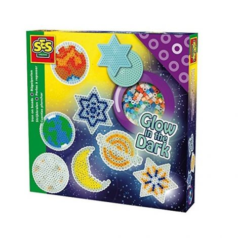 GLOW-IN-THE-DARK IRON-ON BEADS ACTIVITY SET: SPACE