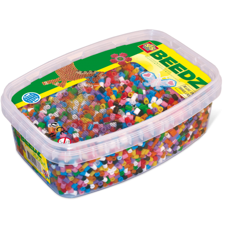 IRON-ON BEADS TUB REFILL - 7000PCS, MIXED COLOURS