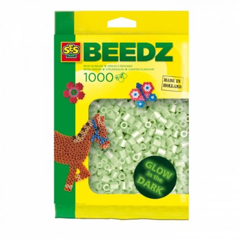 IRON-ON BEADS PACK REFILL - 1000PCS, GLOW-IN-THE-DARK
