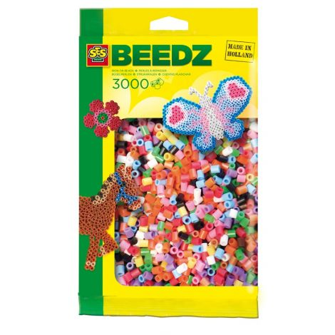IRON-ON BEADS REFILL PACK - 3000PCS, MIXED COLOURS