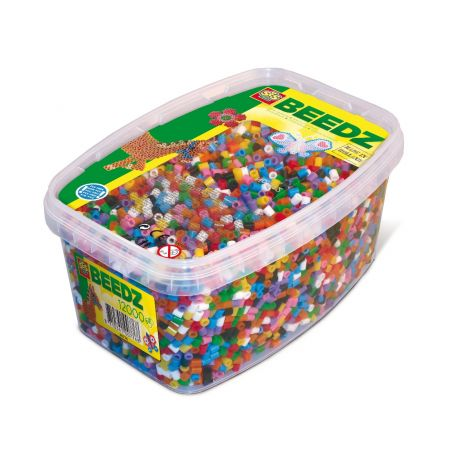IRON-ON BEADS REFILL TUB - 12000PCS, MIXED COLOURS