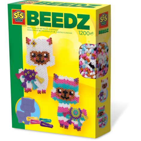 IRON-ON BEADS ACTIVITY SET: ALPACAS