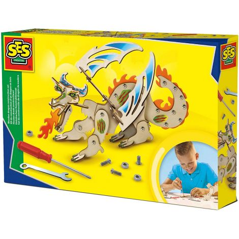 WOODEN DRAGON CONSTRUCTION SET