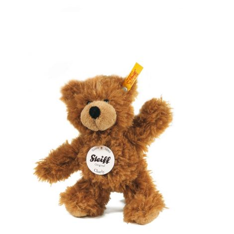 CHARLY DANGLING TEDDY BEAR, BROWN (16CM)