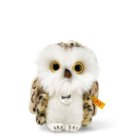 WITTIE OWL PLUSH, GREY-BRINDLED (12CM)