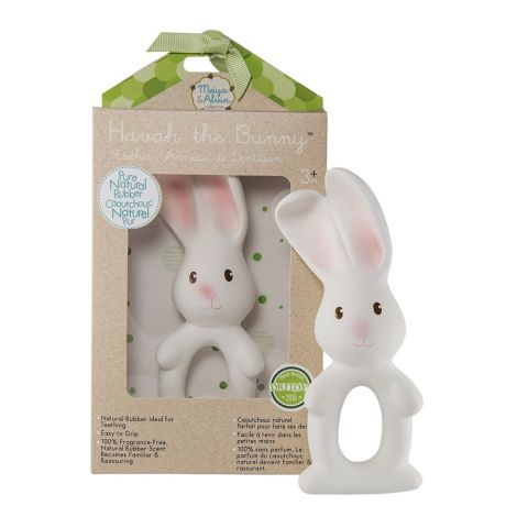 HAVAH BUNNY PURE NATURAL RUBBER RING TEETHER