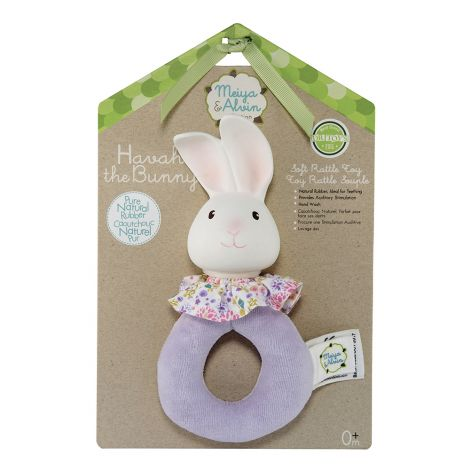 HAVAH BUNNY FABRIC RING RATTLE