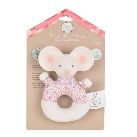 MEIYA MOUSE FABRIC RING RATTLE