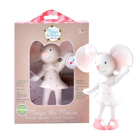 MEIYA MOUSE PURE NATURAL RUBBER SQUEAKING TEETHER