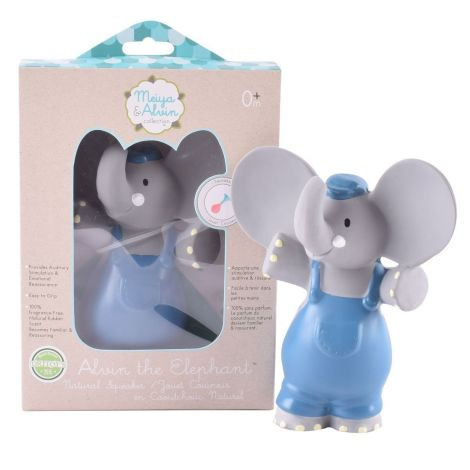 ALVIN ELEPHANT PURE NATURAL RUBBER SQUEAKING TEETHER