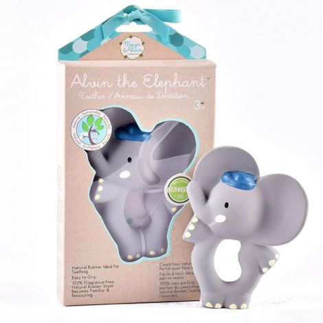 ALVIN ELEPHANT PURE NATURAL RUBBER RING TEETHER