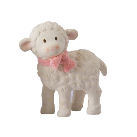 LILA LAMB ORGANIC RUBBER TEETHER (PINK)
