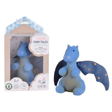 MIDNIGHT DRAGON PURE NATURAL RUBBER MULTI-SENSORY TEETHER