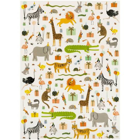 PARTY ANIMALS GIFTWRAP, BY RIFLE PAPER CO.